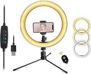 """LED 10.2"""" Desktop Selfie Ring Light"""