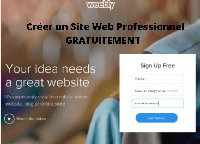 Créer un Site Web Professionnel GRATUITEMENT