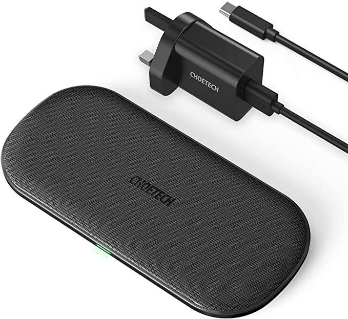 3. Choetech Dual Fast Wireless Charger - Meilleur chargeur sans fil multi-appareils