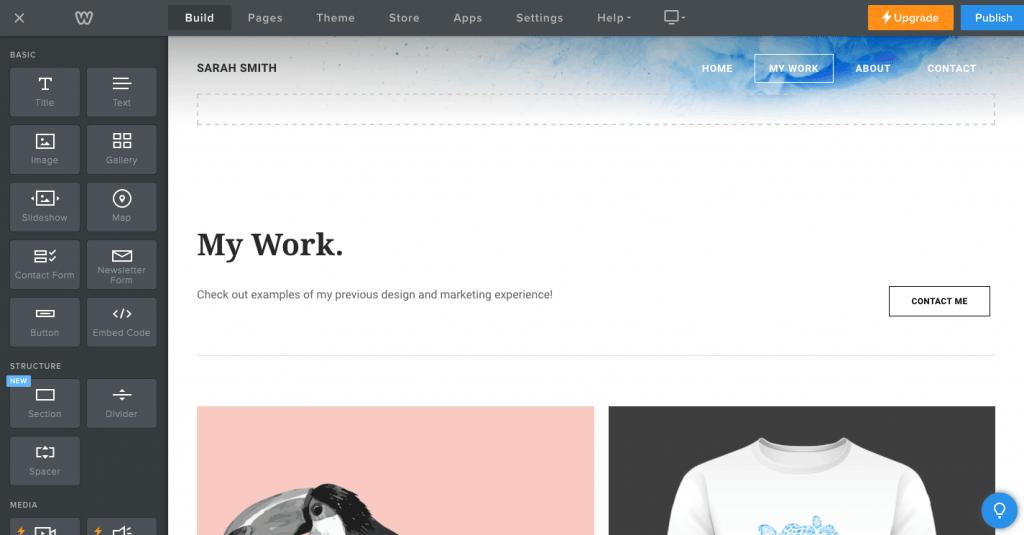 Comment créer gratuitement un site Web professionnel - Weebly Étape 3