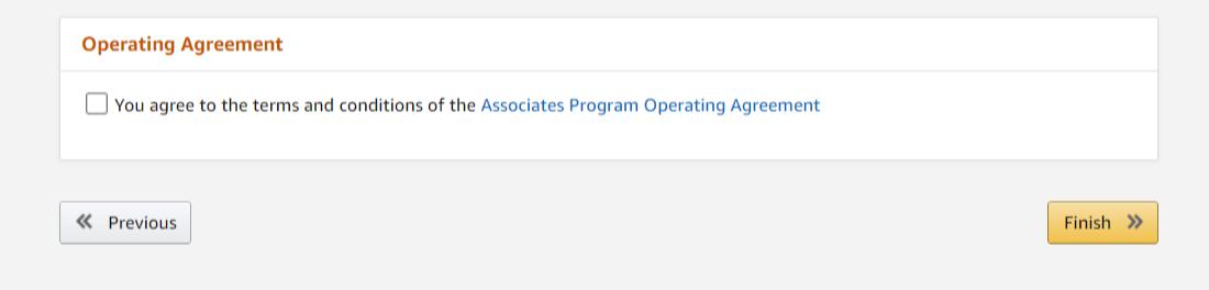 Inscription au programme de marketing d'affiliation d'Amazon Associates
