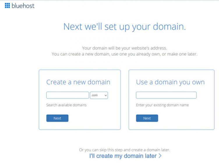 Comment obtenir un nom de domaine gratuit sur bluehost