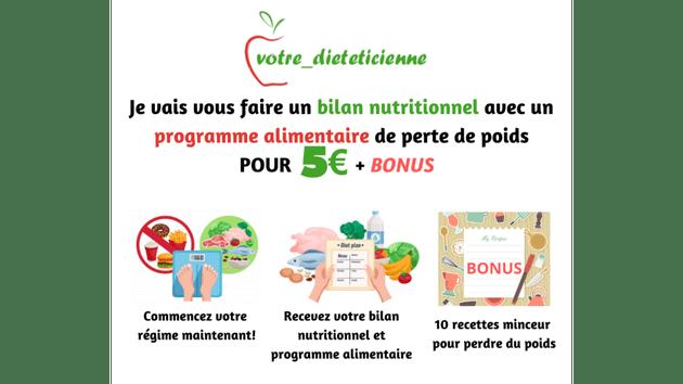 Vendez votre régime alimentaire
