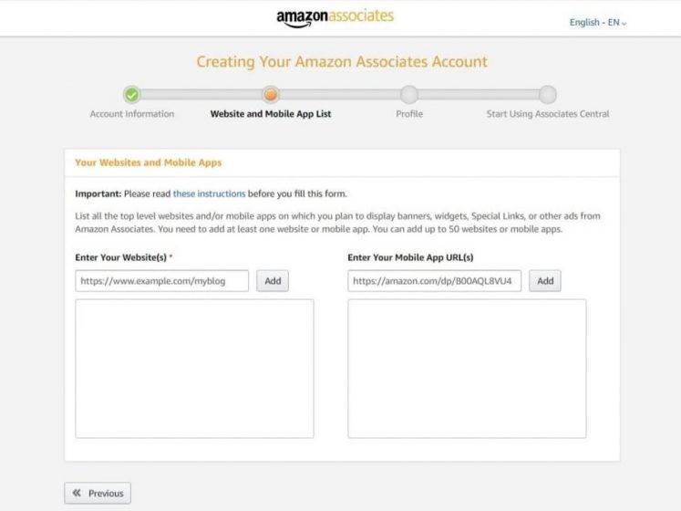 Devenir un affilié Amazon