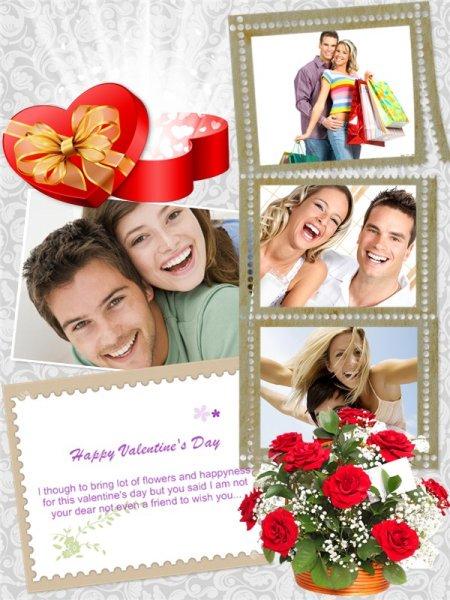 collage photo valentine 5euros