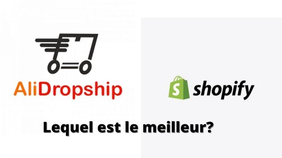 AliDropship Vs Shopify - Lequel est le meilleur?
