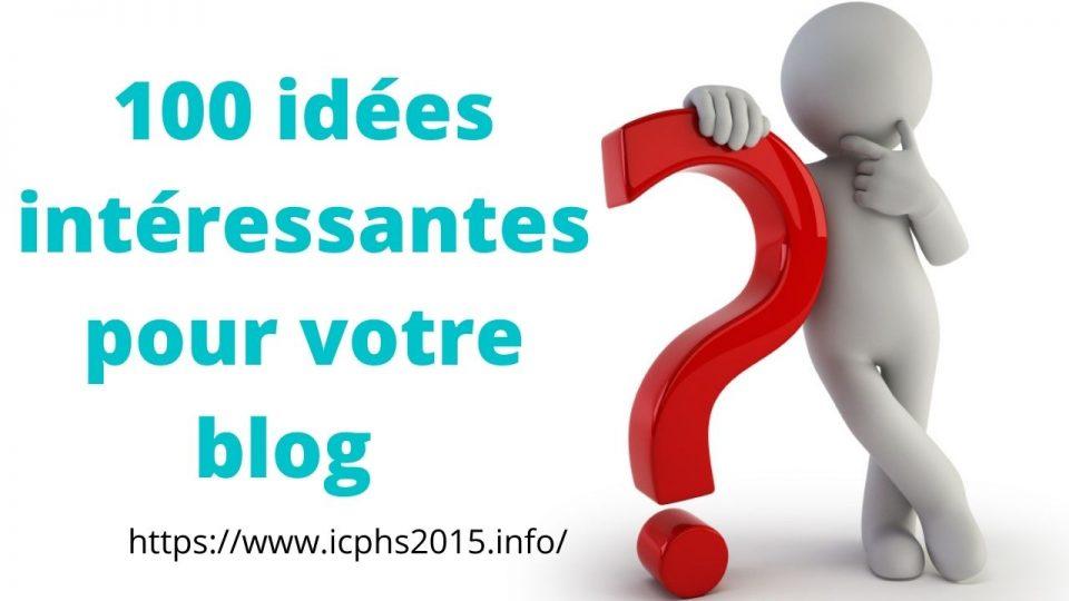 100 idées intéressantes de niche de blog