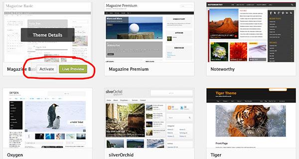 Choisir un thème WordPress gratuit
