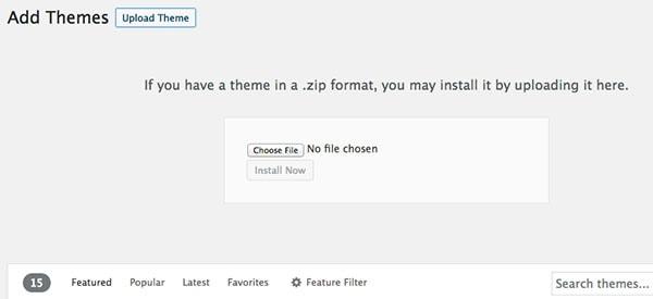 Comment ajouter un thème WordPress