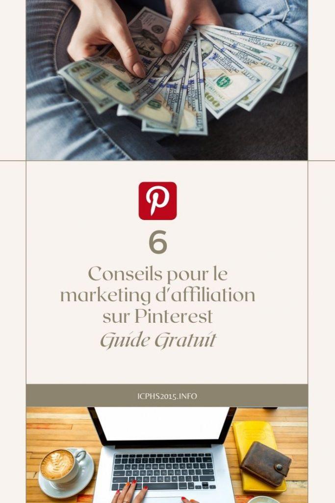 Conseils pour le marketing d'affiliation sur Pinterest