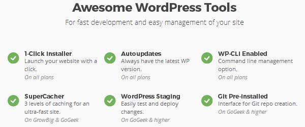 SiteGround - Outils WordPress