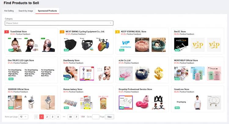 Rechercher des produits sponsorisés sur AliExpress
