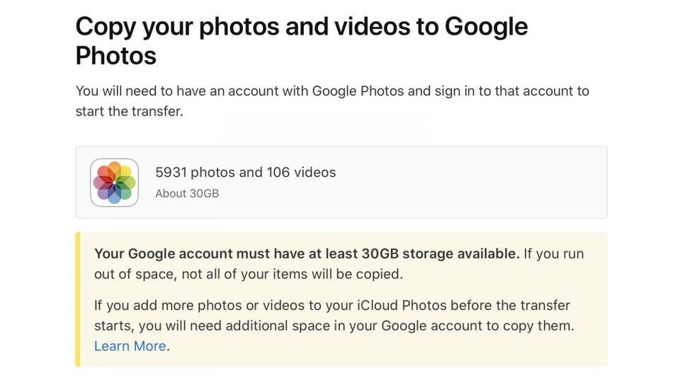 transférer icloud vers google photos comment faire