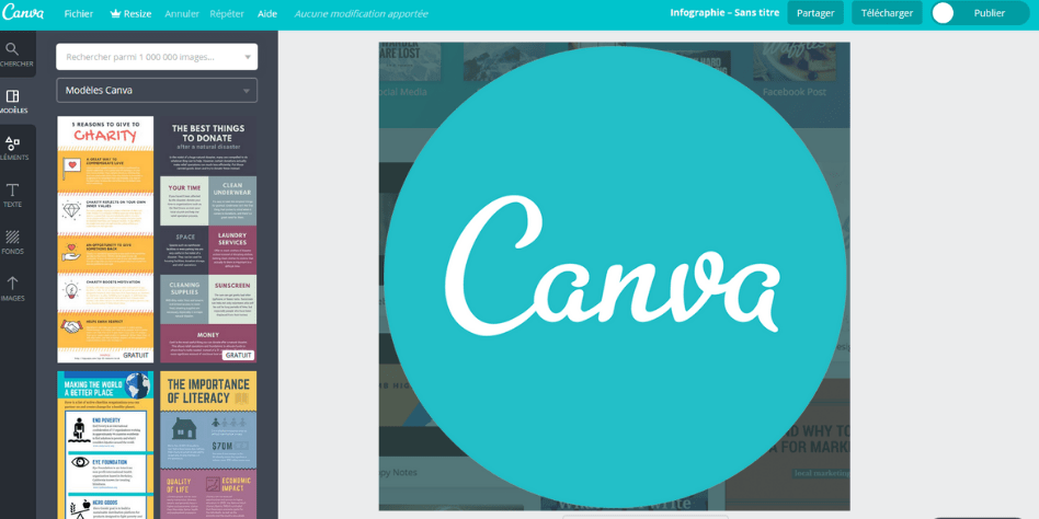 canva pour créer de superbes graphismes pour votre site web bluehost