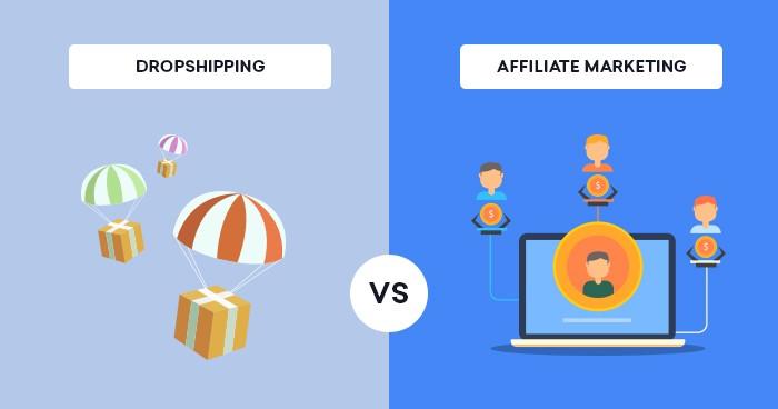 dropshipping vs marketing d'affiliation