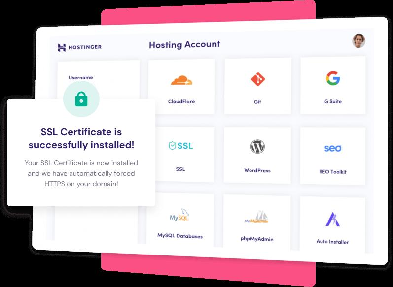 Certificat SSL et domaine gratuits