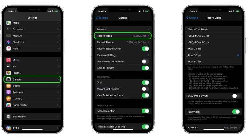 Comment économiser de l'espace de stockage lors de l'enregistrement de vidéos sur l'iPhone et l'iPad