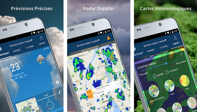 11 meilleures applications météo conçues pour vos smartphones