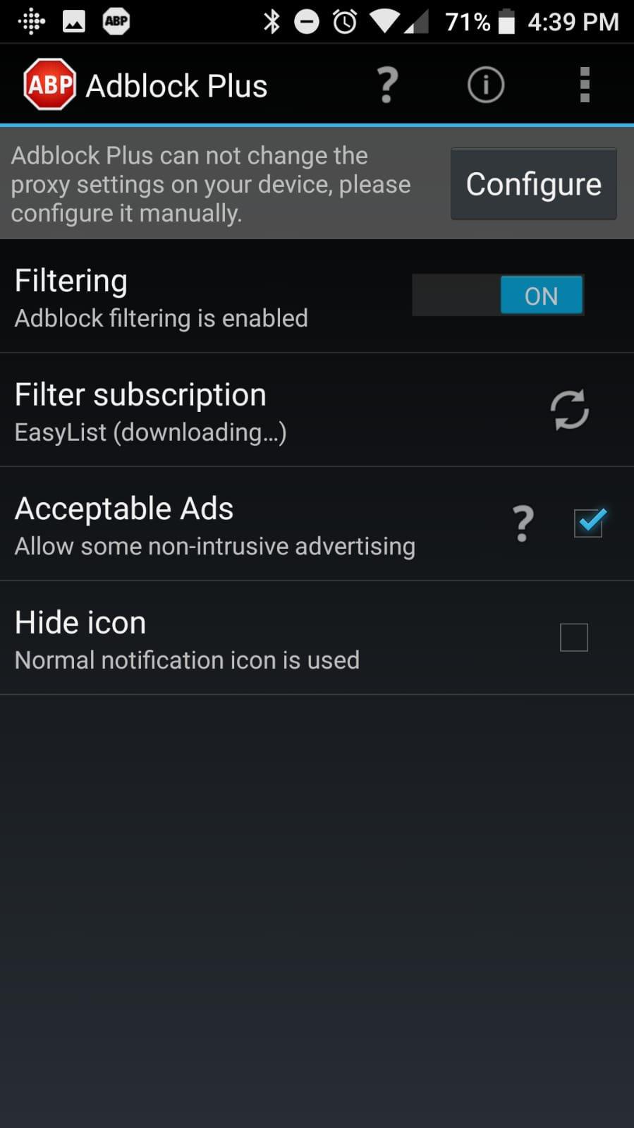 Adblock Plus pour Android Bloqueur de publicité pour Android