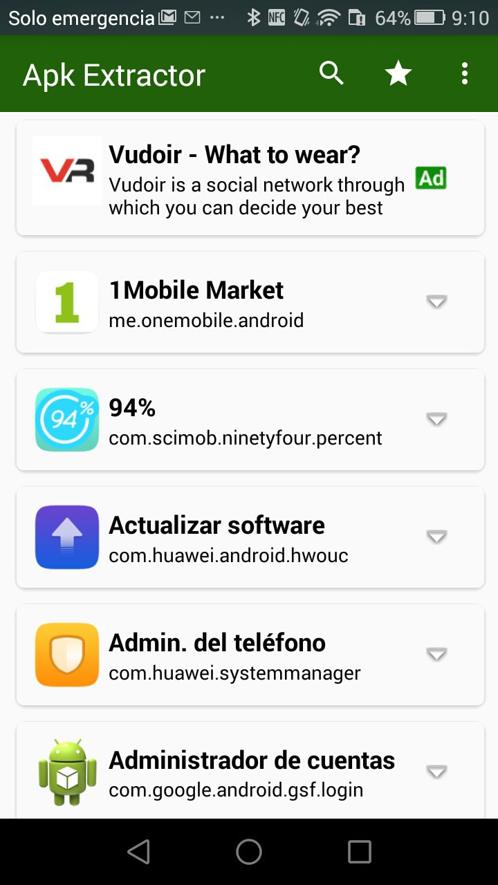 Apk Extractor pour android