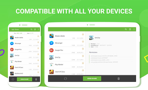 Apk Share Bluetooth - Envoyer/Sauvegarder/Désinstaller/Gérer