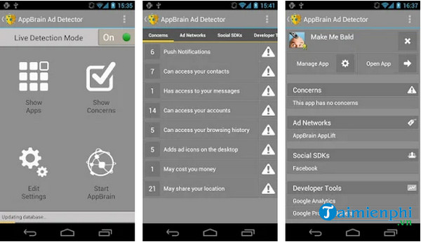 Application AppBrain Ad Detector pour android