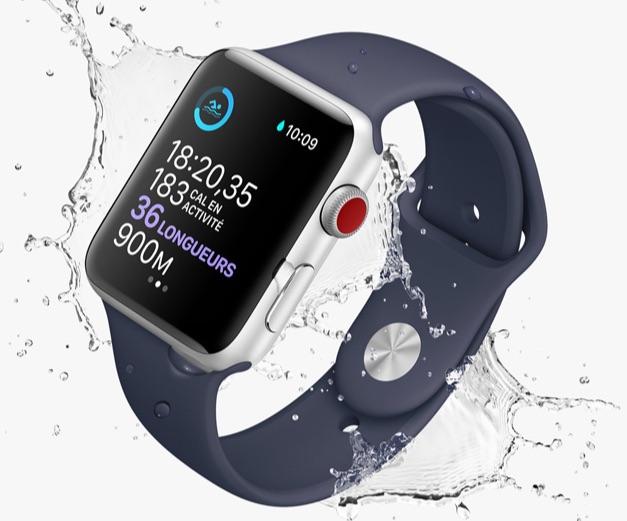 Meilleure montre intelligente pour la natation - Apple Series 5
