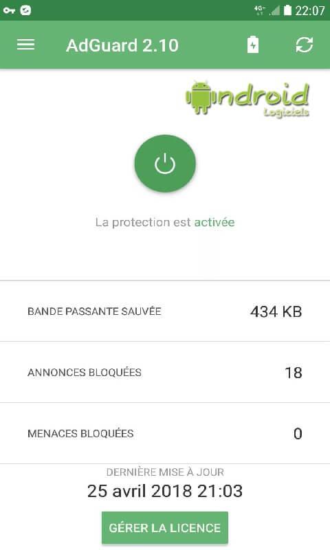 Bloqueur de publicité pour android Adgurd