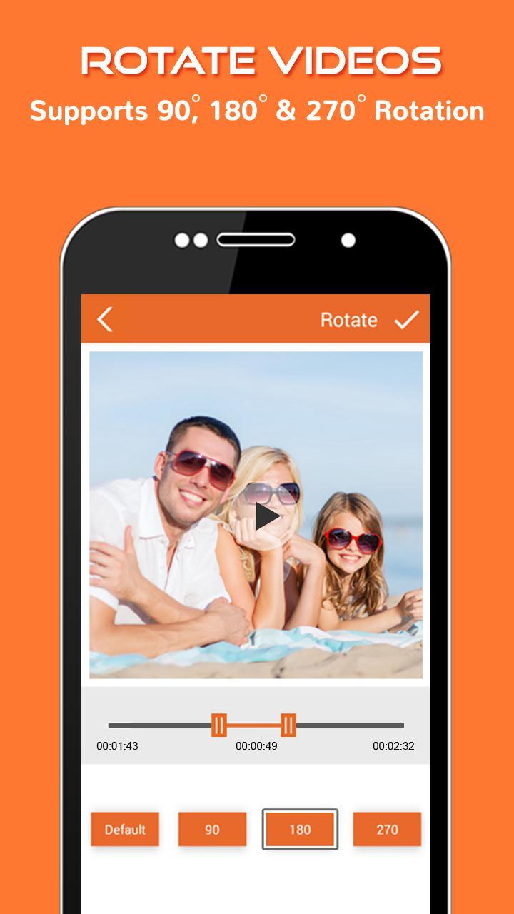 Convertisseur vidéo Flip Compress app android