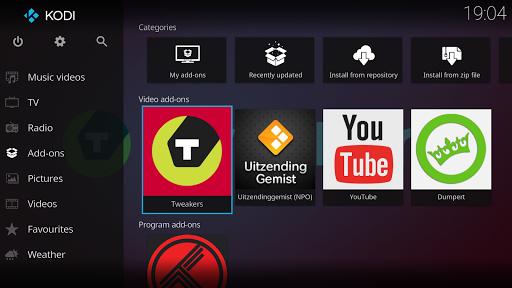 Kodi - application home cinéma pour android