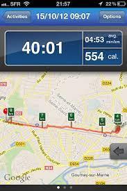Runkeeper et l'application de cyclisme andorid