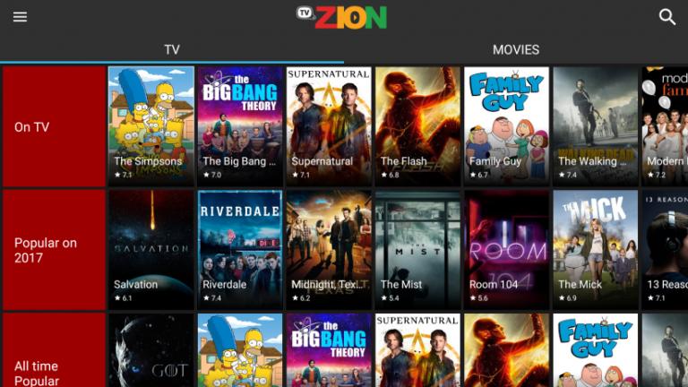 TVZion APK App (Films HD gratuits)