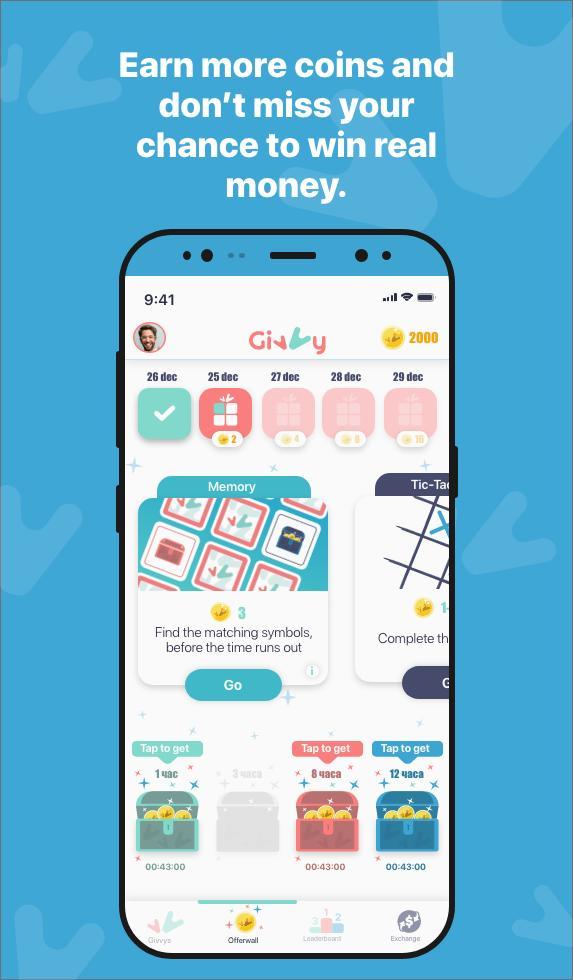 Gagnez de l'argent gratuitement avec Givvy - Best Money Earning App