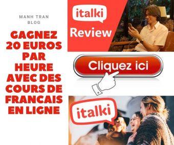 GAGNEZ 20 EUROS PAR HEURE AVEC DES COURS DE FRANCAIS EN LIGNE