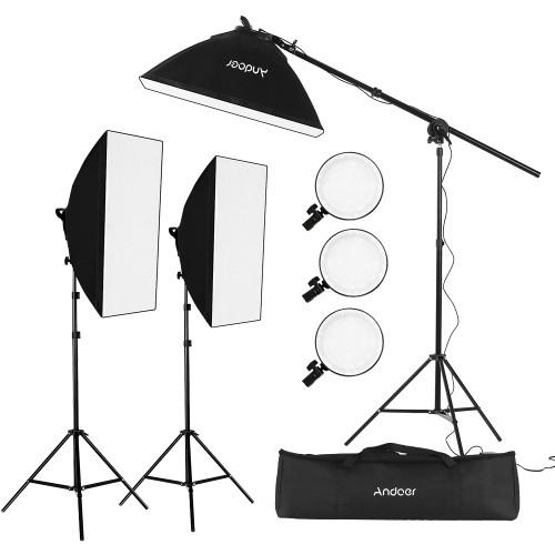 Kit d'éclairage à LED Andoer Softbox