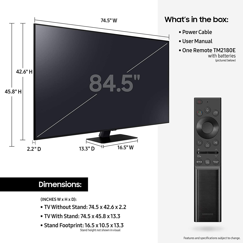Test du Samsung Q80A (TV QLED 2021 4K)