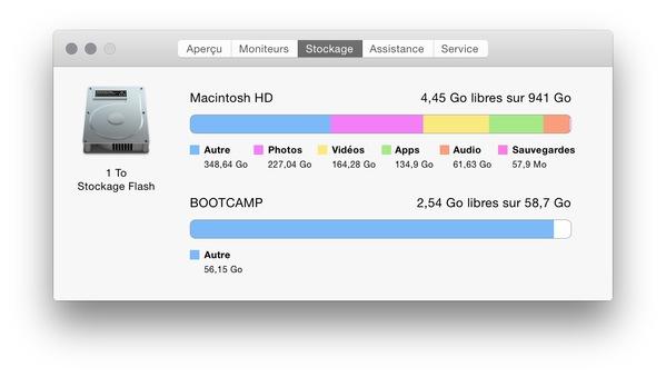 stockage Autre sur Mac